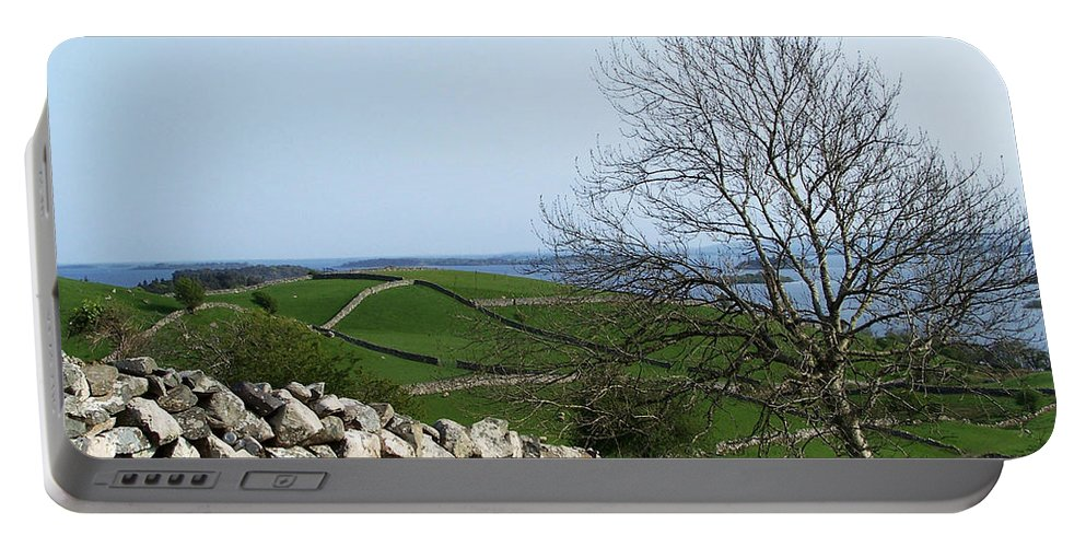 Irish Portable Battery Charger featuring the photograph Patchwork Quilt Lough Corrib Maam Ireland by Teresa Mucha