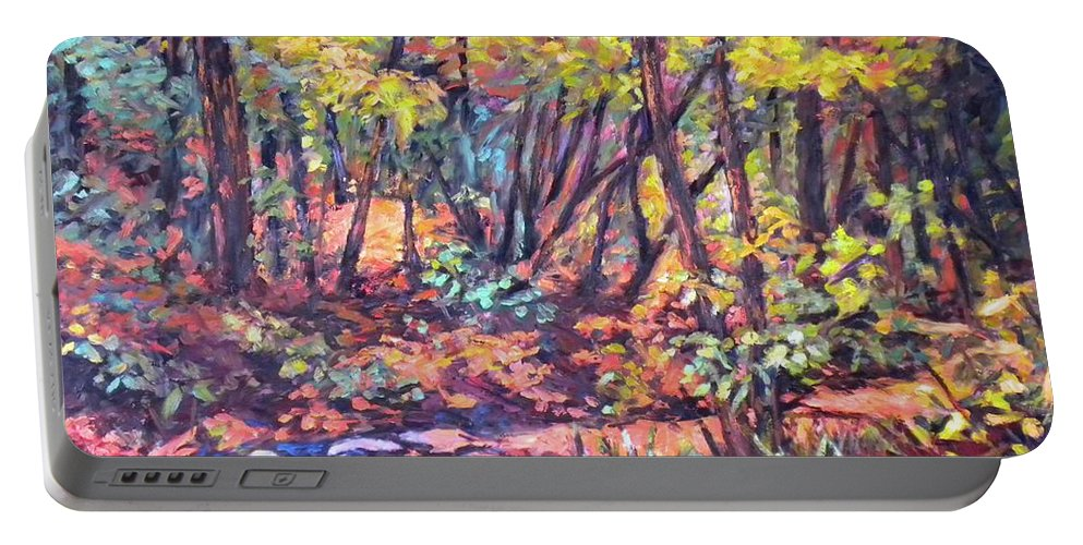 Landscape Portable Battery Charger featuring the painting Path Near Pandapas by Kendall Kessler