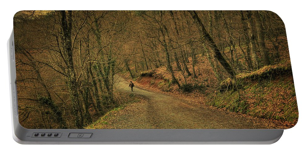 Woods Portable Battery Charger featuring the photograph Path by Zapista