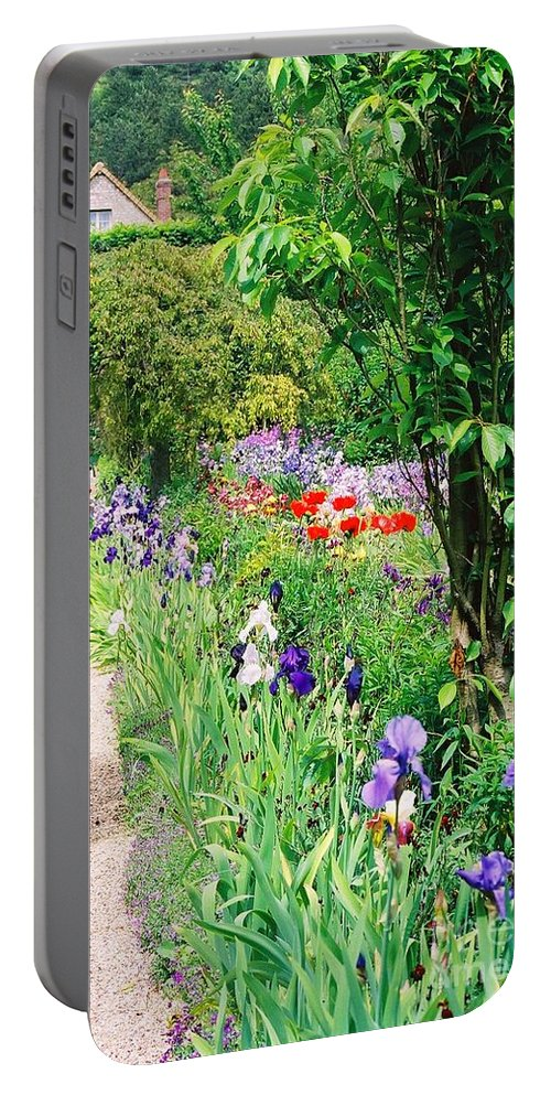 Claude Monet Portable Battery Charger featuring the photograph Path To Monet's House by Nadine Rippelmeyer