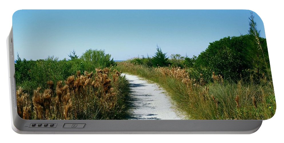 Sandy Path Portable Battery Charger featuring the photograph Path To Paradise by Gary Wonning