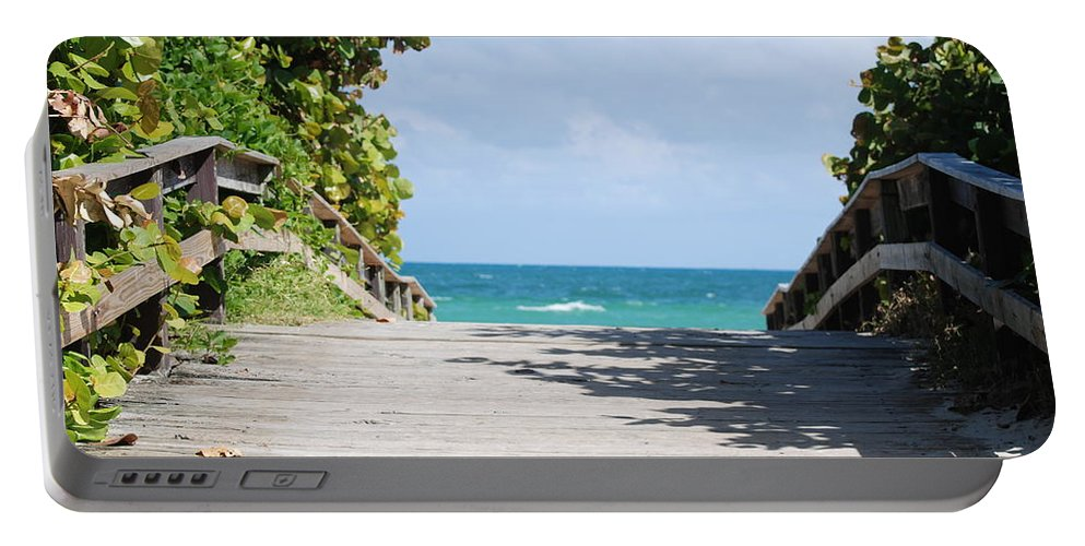 Sea Scape Portable Battery Charger featuring the photograph Path To Paradise by Rob Hans