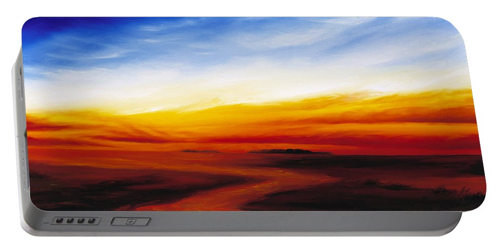 Sunrise Portable Battery Charger featuring the painting Path To Redemption by James Christopher Hill