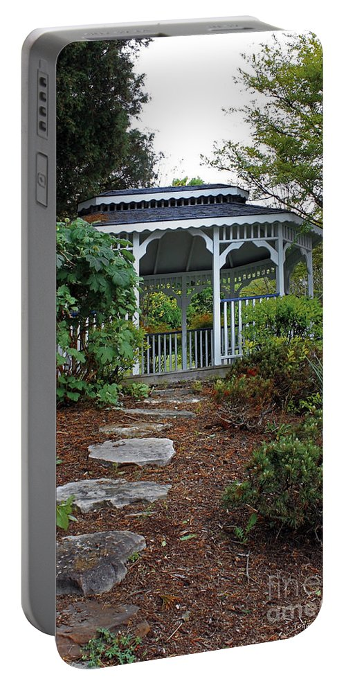 Landscape Portable Battery Charger featuring the photograph Path To The Gazebo by Todd Blanchard