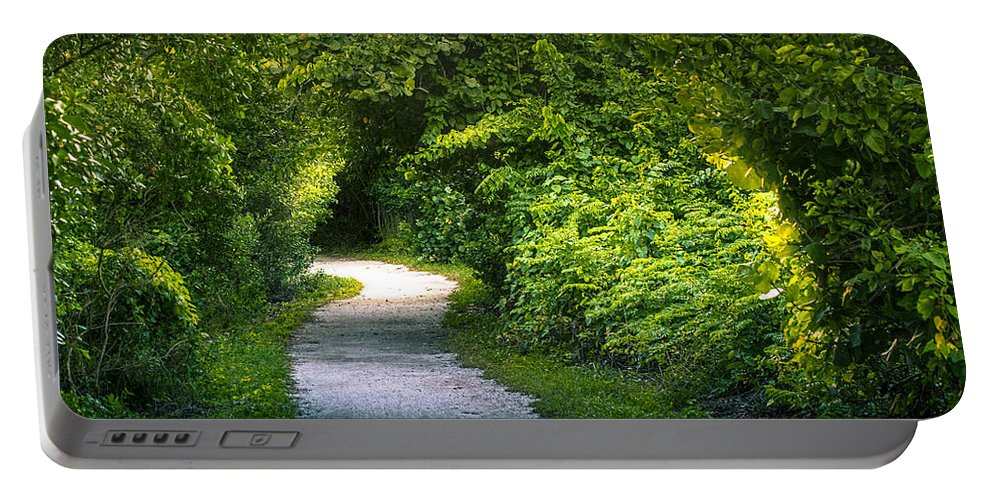 Path To The Secret Garden Portable Battery Charger featuring the photograph Path To The Secret Garden by Marvin Spates