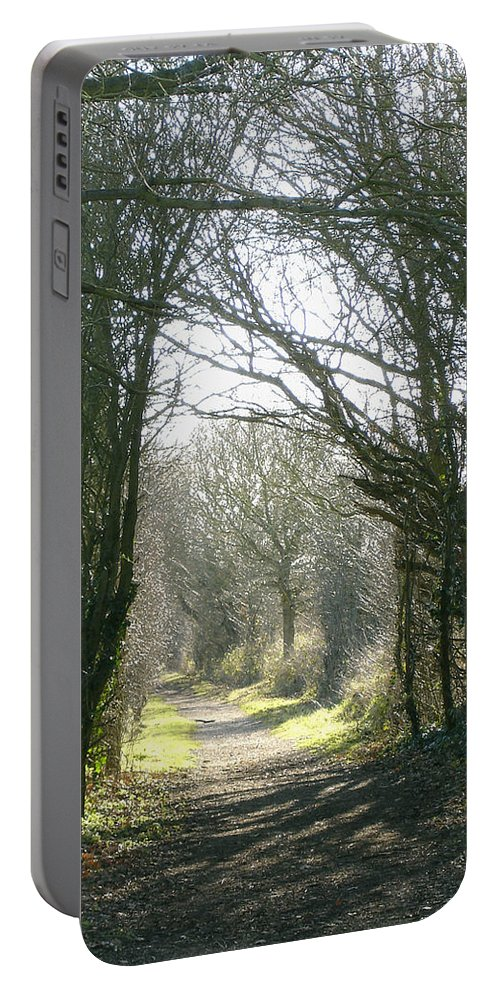 Path Portable Battery Charger featuring the photograph Path To Wherever by Susan Baker