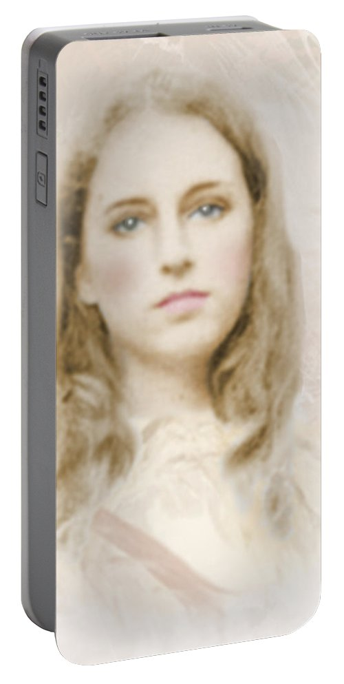 Portraits Portable Battery Charger featuring the photograph Pathos by Karen W Meyer