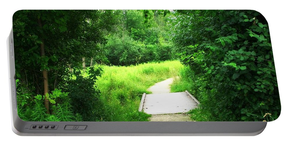 Carpenters Nature Preserves Portable Battery Charger featuring the photograph Pathway by Amanda Kessel