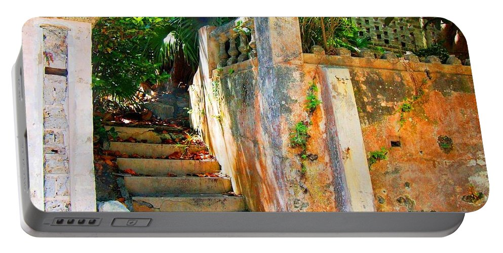 Steps Portable Battery Charger featuring the photograph Pathway by Debbi Granruth
