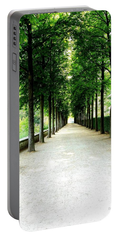 Path Portable Battery Charger featuring the photograph Pathway by Deborah Crew-Johnson