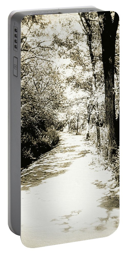 Forest Portable Battery Charger featuring the photograph Pathway by Julie Hamilton