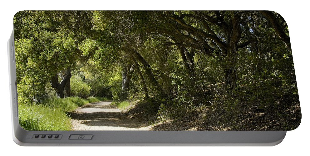 Path Portable Battery Charger featuring the photograph Pathway To Somewhere by Kelley King