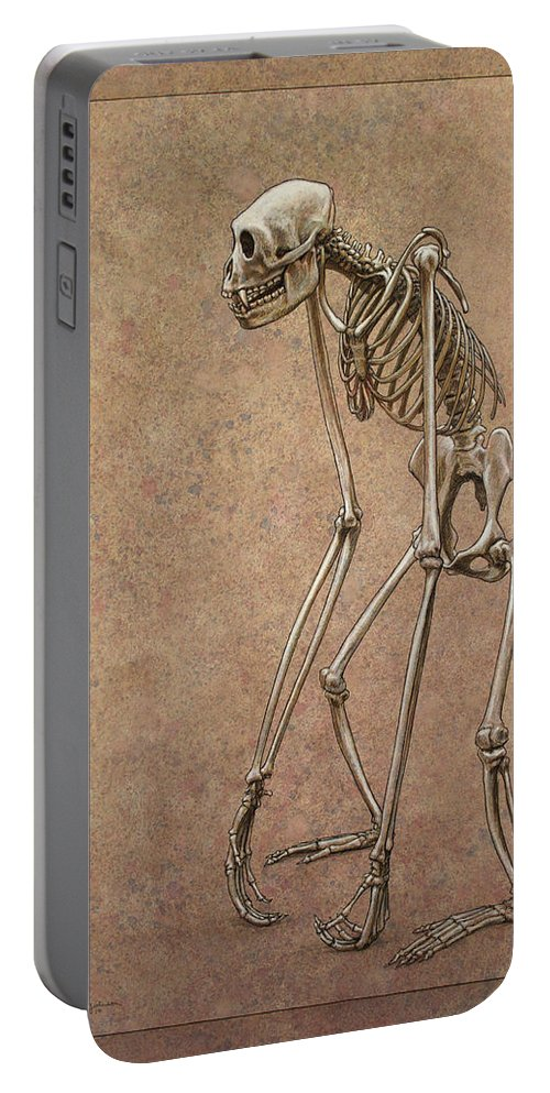 Patience Portable Battery Charger featuring the drawing Patient by James W Johnson