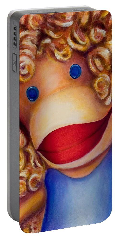 Children Portable Battery Charger featuring the painting Patricia by Shannon Grissom