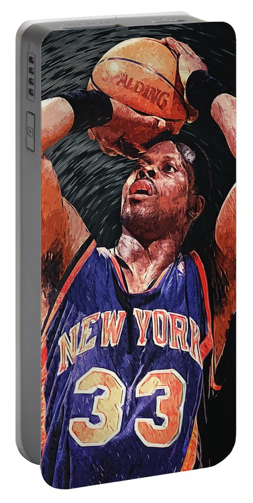 Patrick Ewing Portable Battery Charger featuring the digital art Patrick Ewing by Zapista Zapista