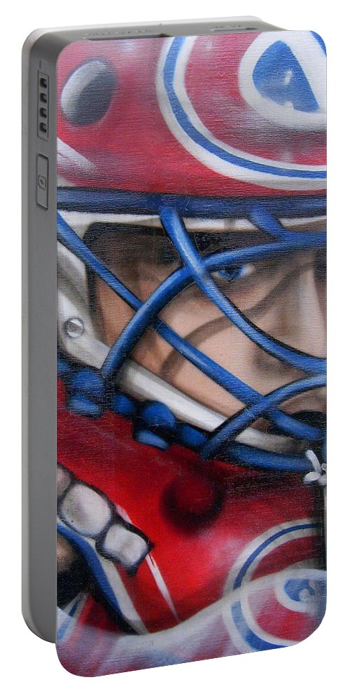 North America Portable Battery Charger featuring the photograph Patrick Roy ... by Juergen Weiss