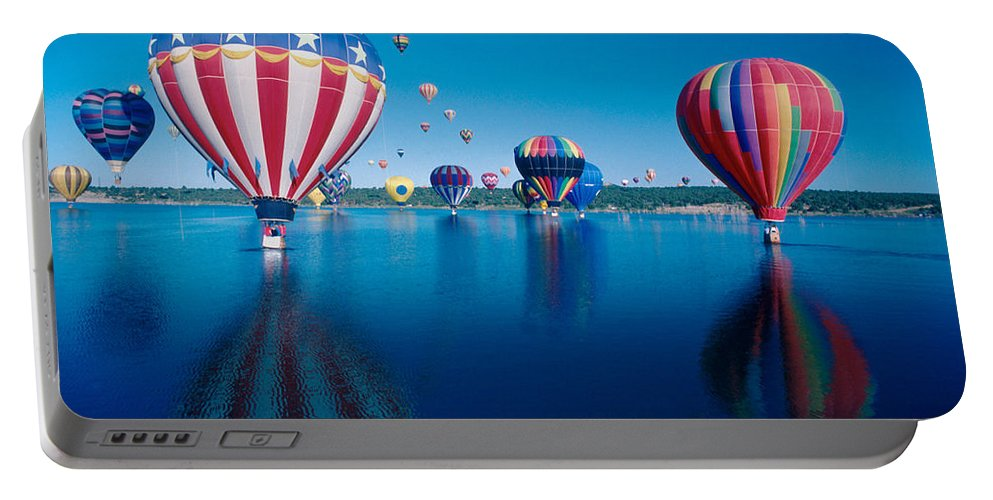 Hot Air Balloons Portable Battery Charger featuring the photograph Patriotic Hot Air Balloon by Jerry McElroy
