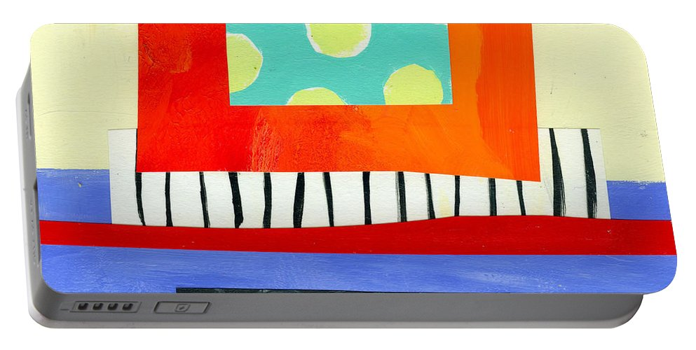 Abstract Art Portable Battery Charger featuring the painting Pattern # 6 by Jane Davies