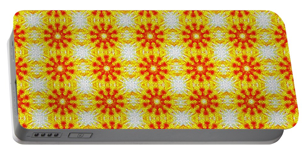 Pattern Portable Battery Charger featuring the digital art Pattern 107 by Kristalin Davis