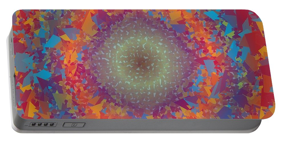 Pattern 123 Portable Battery Charger featuring the digital art Pattern 123 by Marko Sabotin