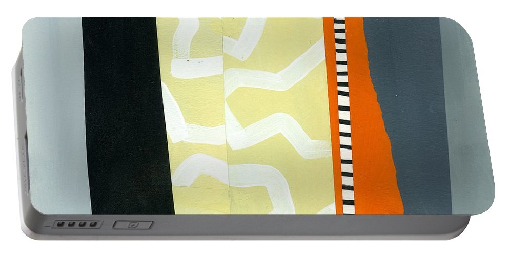 Abstract Art Portable Battery Charger featuring the painting Pattern Grid # 16 by Jane Davies
