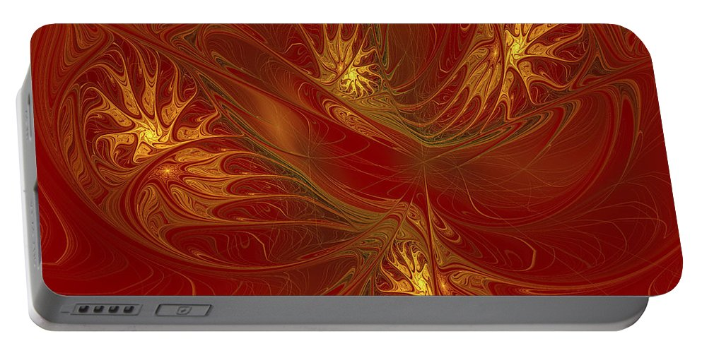 Digital Portable Battery Charger featuring the digital art Pattern Of Elegance by Deborah Benoit