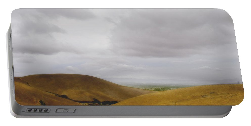 Landscape Portable Battery Charger featuring the photograph Patterson Pass Road by Karen W Meyer