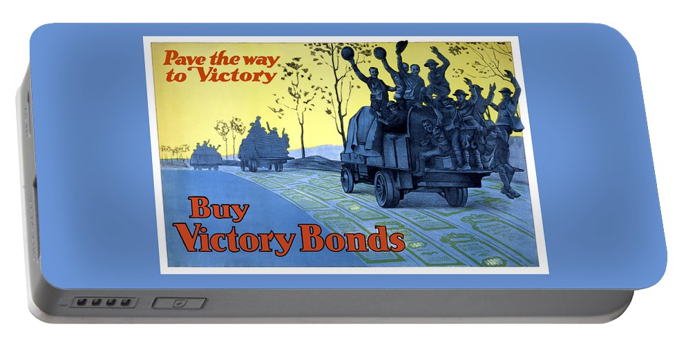 World War One Portable Battery Charger featuring the painting Pave The Way To Victory by War Is Hell Store