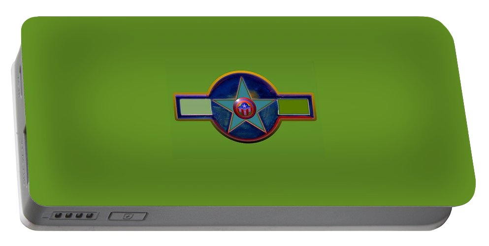 Usaaf Insignia Portable Battery Charger featuring the digital art Pax Americana Decal by Charles Stuart