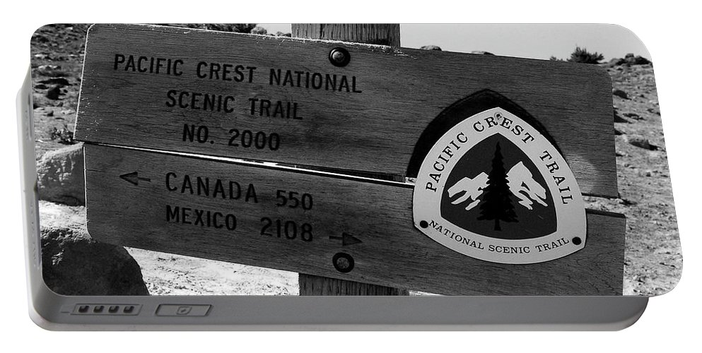 Fine Art Photography Portable Battery Charger featuring the photograph Pct Scenic Trail by David Lee Thompson