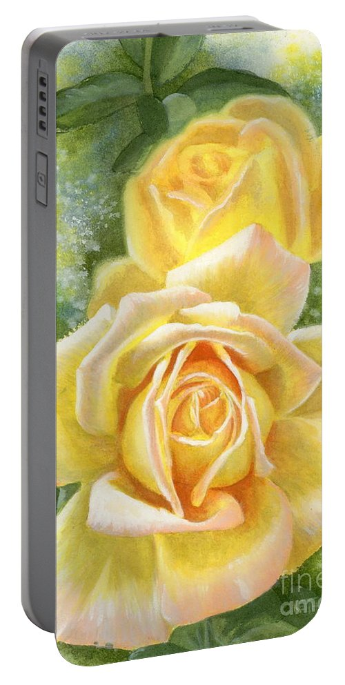 Peace Portable Battery Charger featuring the painting Peace by Barbara Keith