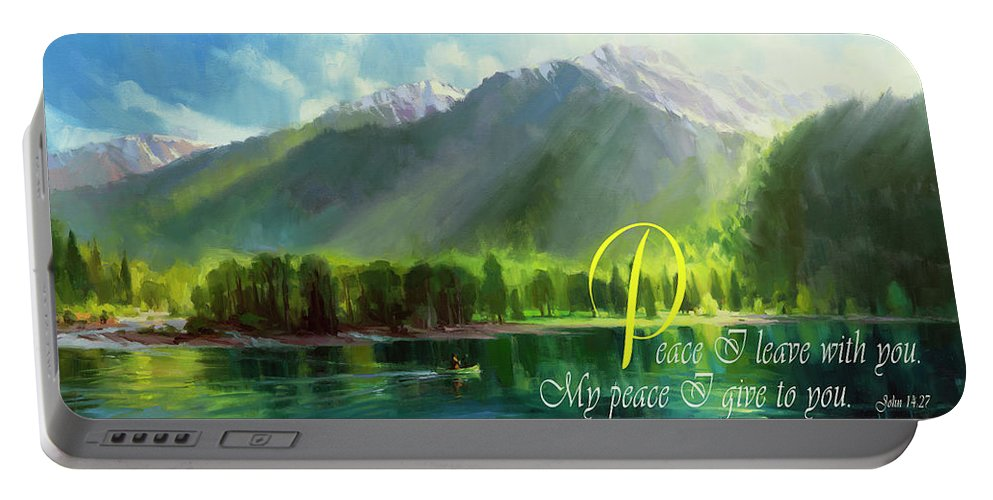 Christian Portable Battery Charger featuring the digital art Peace I Give You by Steve Henderson