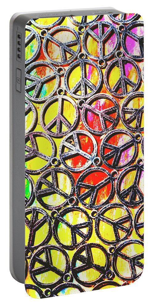 Peace Portable Battery Charger featuring the photograph Peace In All Colours by Jorgo Photography - Wall Art Gallery