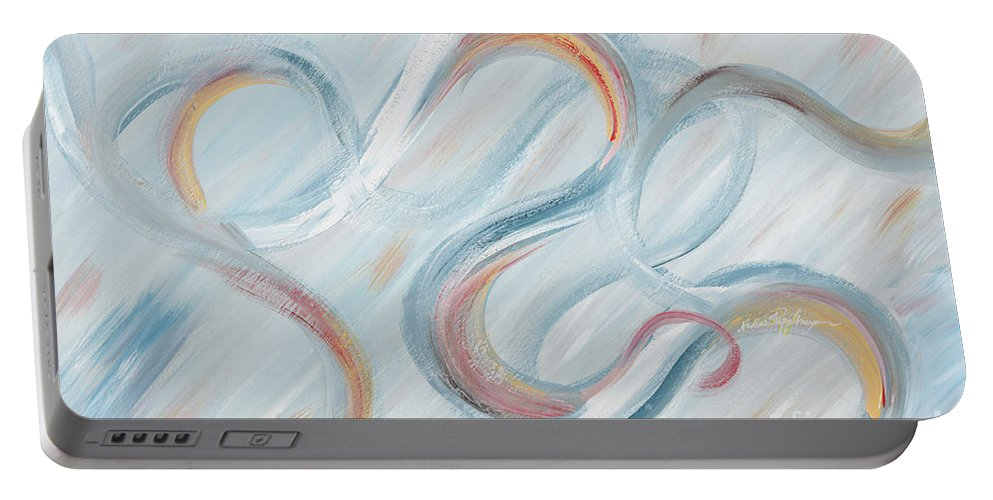 Peace Portable Battery Charger featuring the painting Peace by Nadine Rippelmeyer