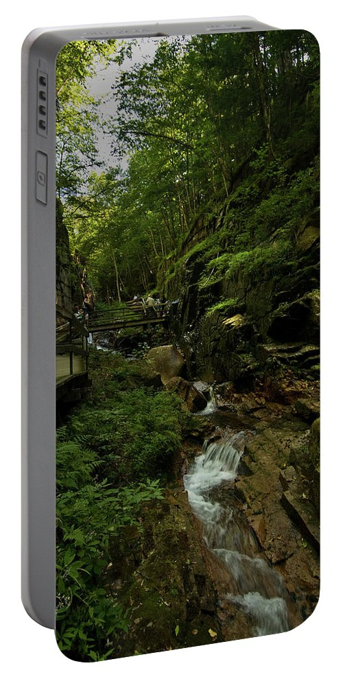 flume Gorge Portable Battery Charger featuring the photograph Peace by Paul Mangold