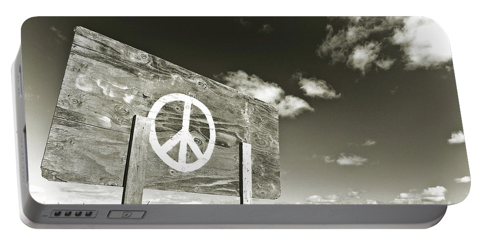 Vacationland Portable Battery Charger featuring the photograph Peace Sepia by David Smith
