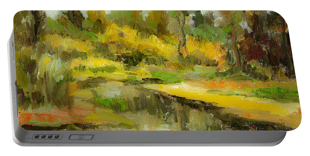 Peacefull Portable Battery Charger featuring the painting Peaceful 2 by Cuiava Laurentiu