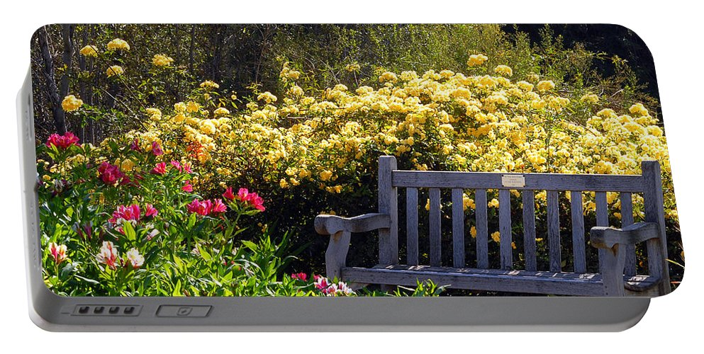 Flowers Portable Battery Charger featuring the photograph Peaceful by Amy Fose