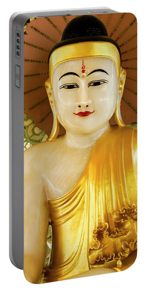 Asia Portable Battery Charger featuring the photograph Peaceful Buddha by Michele Burgess