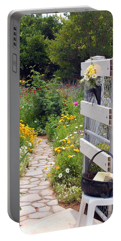 Garden Portable Battery Charger featuring the photograph Peaceful Garden by Amy Fose