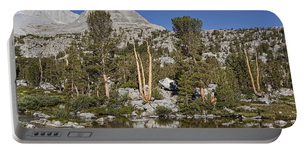 Mountain Portable Battery Charger featuring the photograph Peaceful Retreat by Kelley King
