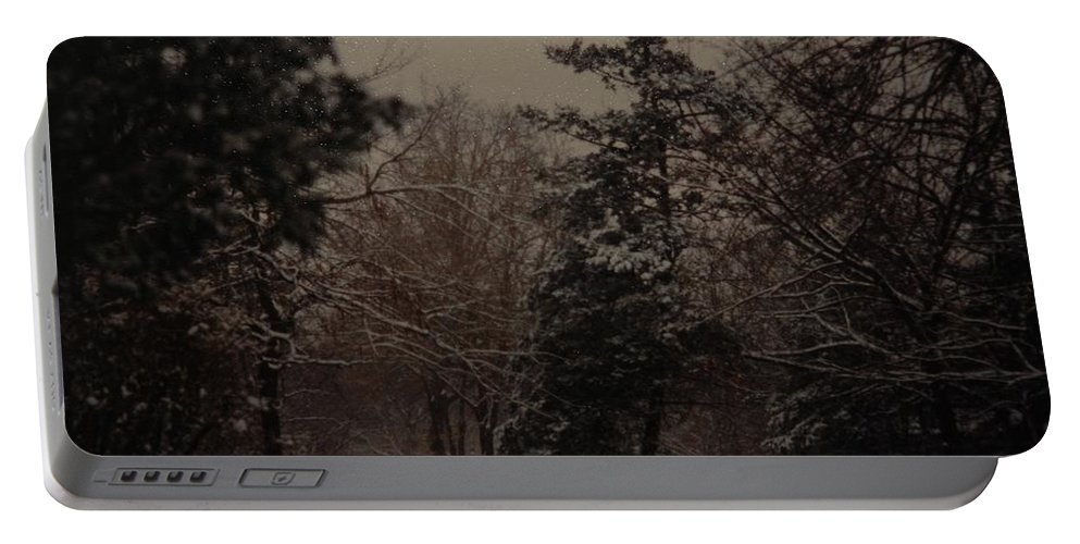 Lights Portable Battery Charger featuring the photograph Peaceful Snow Dusk by Rob Hans