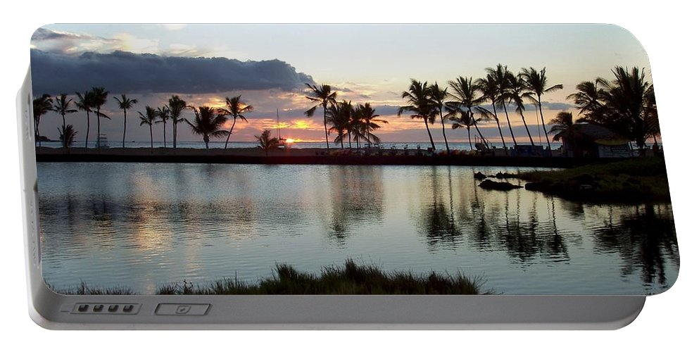 Sunset Portable Battery Charger featuring the photograph Peaceful Sunset by Deborah Crew-Johnson