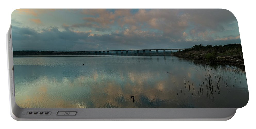 Peaceful Waters Portable Battery Charger featuring the photograph Peaceful Waters by Bob Marquis