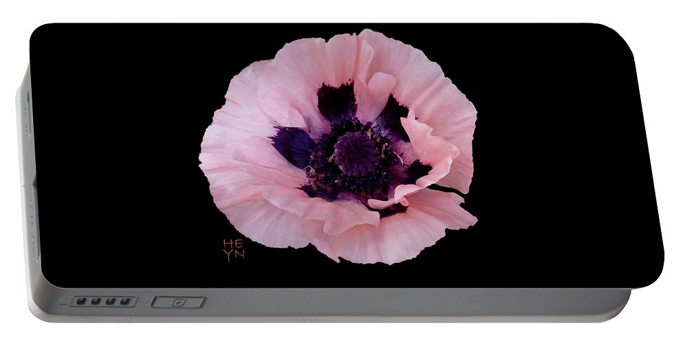 Cutout Portable Battery Charger featuring the photograph Peach Poppy - Cutout by Shirley Heyn