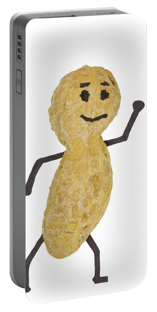 Food Portable Battery Charger featuring the photograph Peanut Figure 1 B by John Brueske