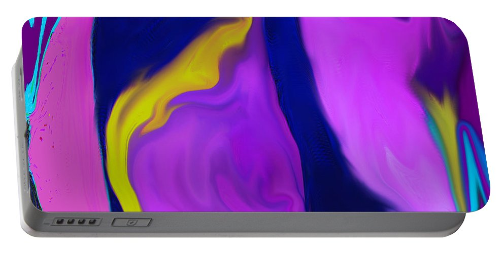 Pear Portable Battery Charger featuring the digital art Pear At Twilight by Ian MacDonald