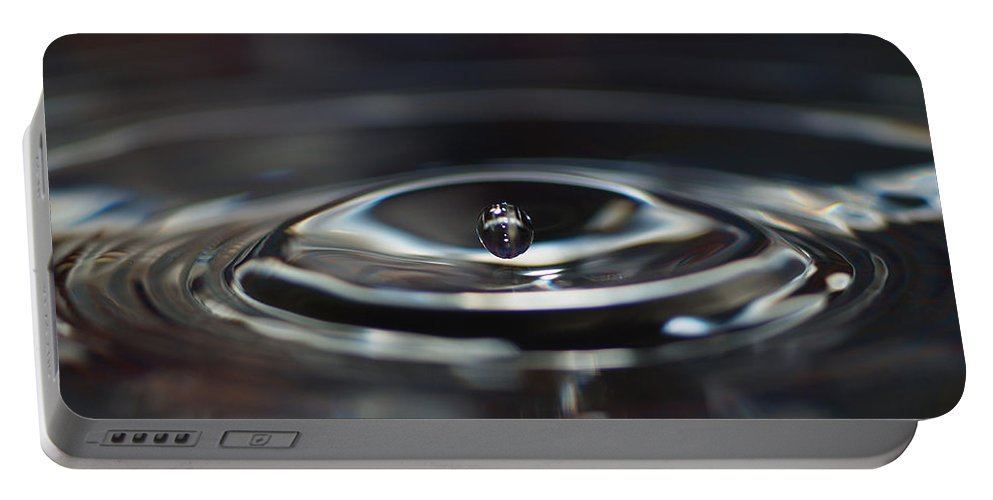 Don Keisling Portable Battery Charger featuring the photograph Pearl Water Drop - From Sink by Don Keisling