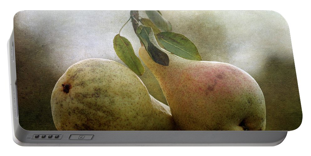 Cindi Ressler Portable Battery Charger featuring the photograph Pears by Cindi Ressler