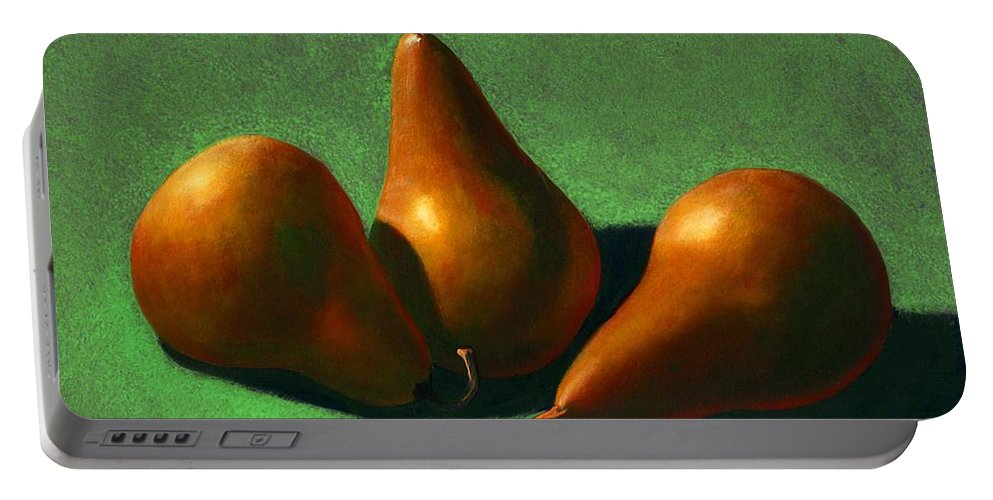 Still Life Portable Battery Charger featuring the painting Pears by Frank Wilson